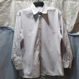 MEN'S BLUE/WHITE STRIPED OXFORD SHIRT NO TAGS